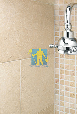 limestone tile shower thala cream Woden Valley cleaning