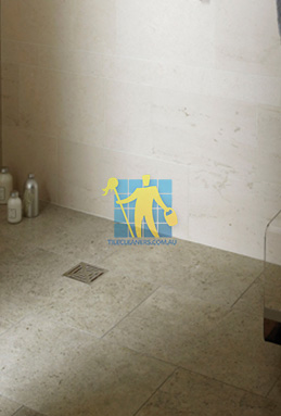 limestone tiles shower moleanos blue Woden Valley cleaning