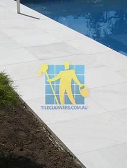 outdoor sandstone tile pool paving snow white Canberra