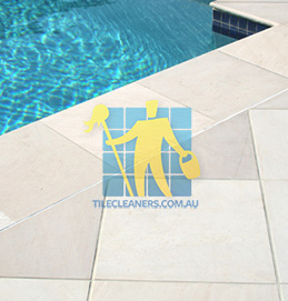 outdoor sandstone tile pool snow white Canberra
