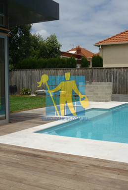 outdoor sandstone tiles pool coping snow white Canberra